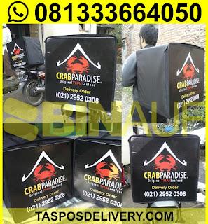 tas delivery makanan, box delivery motor crab paradise jakarta semarang