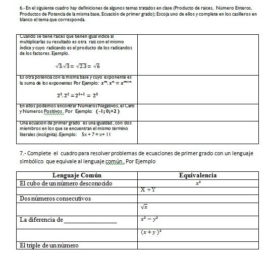 La Educación: Matemáticas Noveno año de Educación Básica