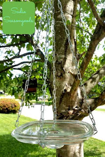 Glass Lid Hanging Bird Bath