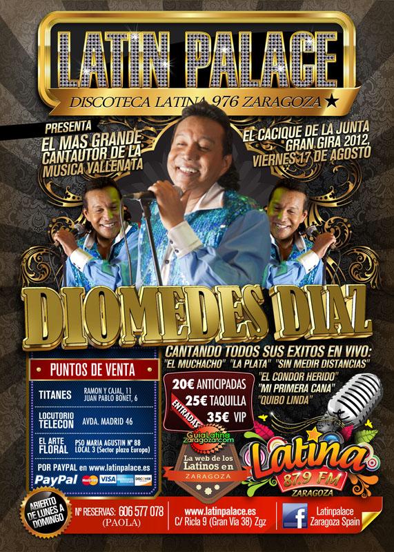 Diomedes d az invita a lat n palace discoteca latina 976 for Sala 976 latin palace