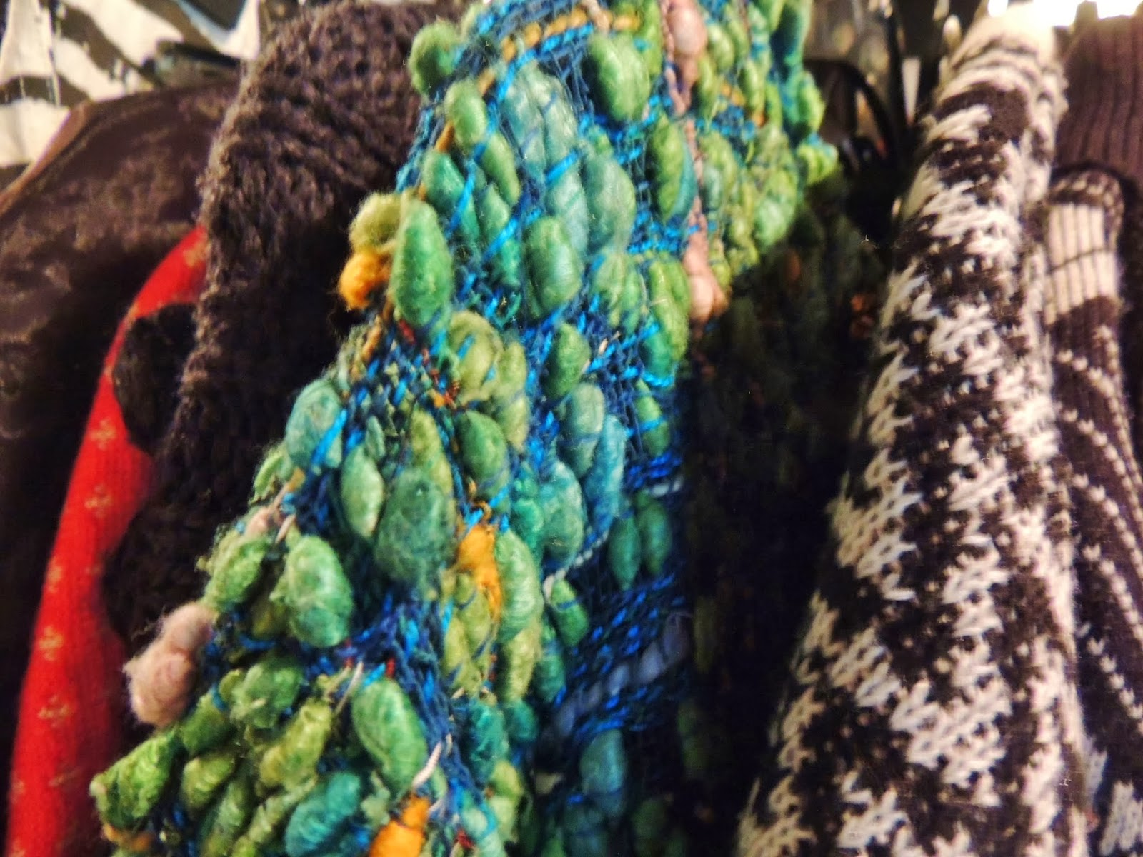 Close-up vintage knitwear
