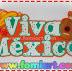 """Letrero Decorado:"""" Viva México""""/ Fomiart"""
