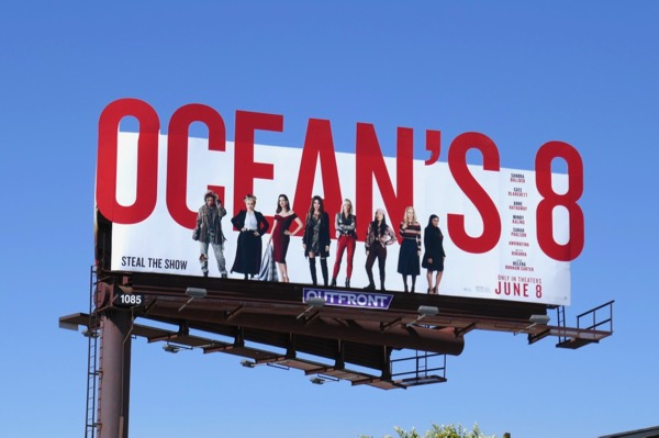 Oceans 8 special extension cutout billboard