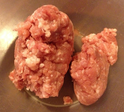 raw pork mince