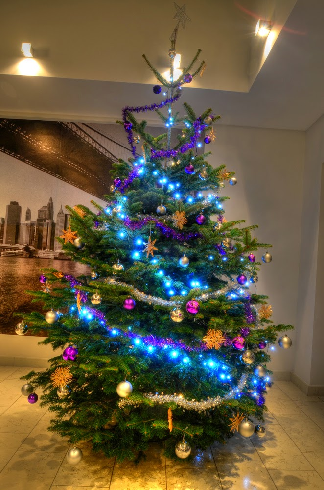 árbol navideño turquesa oro