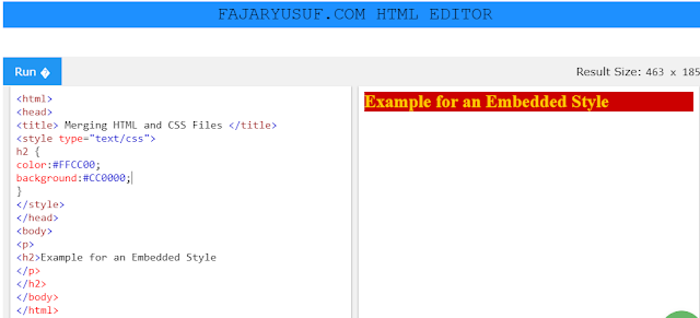 How to combine HTML with CSS