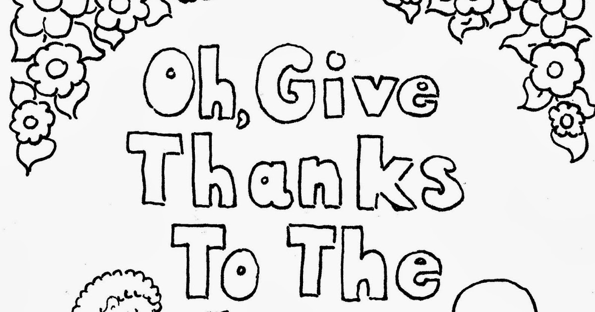 David gave thanks coloring pages