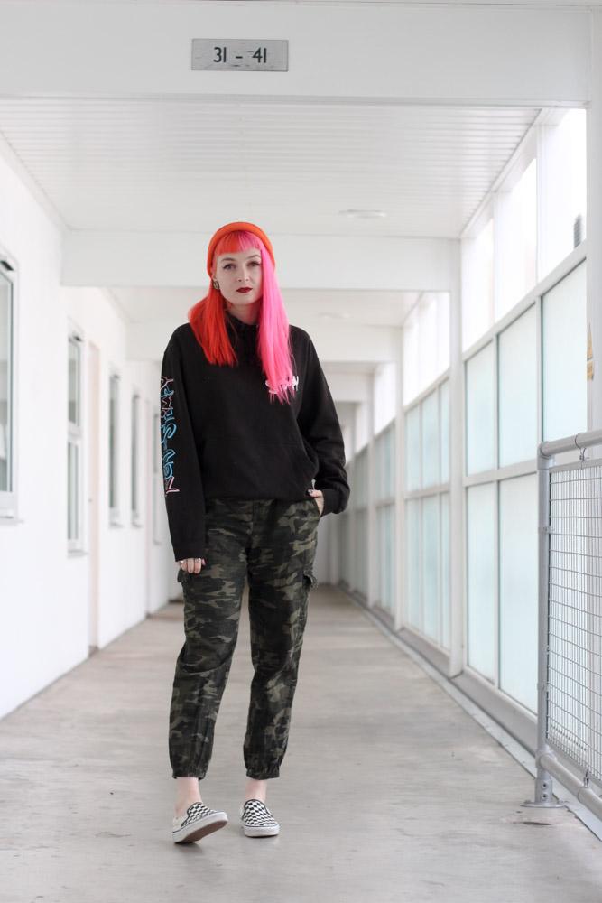 Alternative Fashion Blogger Foxxtailz Styles Ren and Stimpy hoodie
