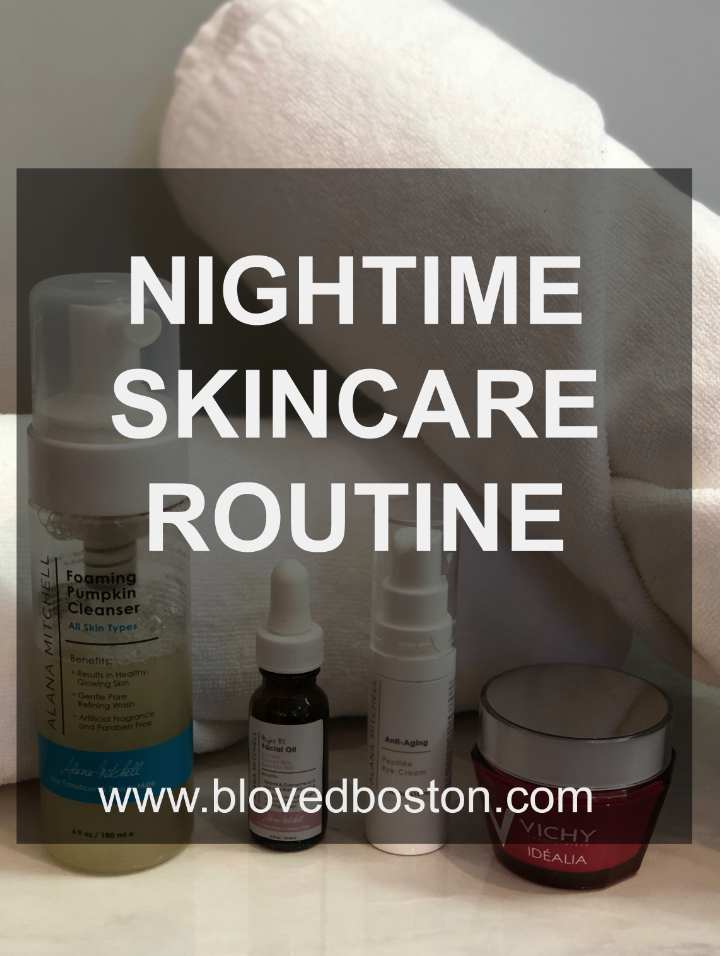 Alanna Mitchell Skincare, vitamin c, nighttime oil, serum for the face, vichy moisturizer