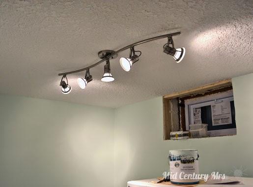 Basement Lighting Fixtures: Mid Century Mrs: Basement: Let There Be Light