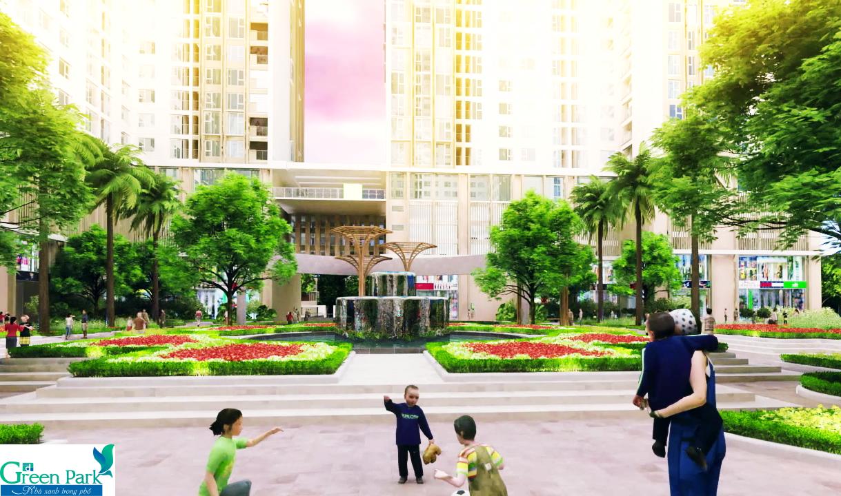 Không gian sống đẳng cấp của Green Park Trần Thủ Độ