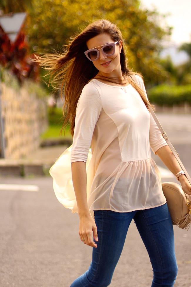 Marilyn 39 s closet fashion blog apricot blouse for Garderobe 33 style blog