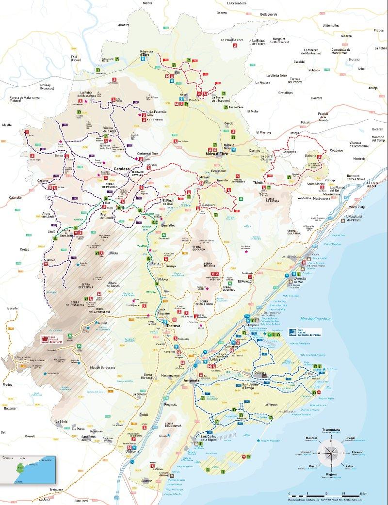 Mapa Terres De L Ebre.Bici Vici Nou Mapa Del Cicloturisme A Les Terres De L Ebre