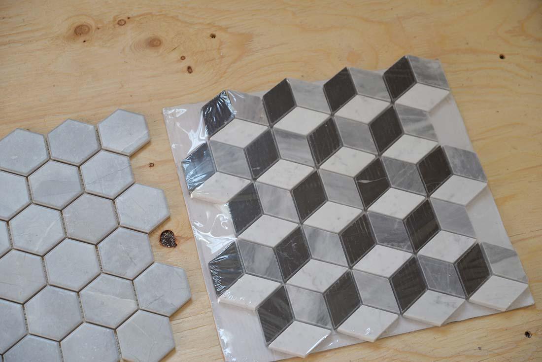 3d cube marble mosaic tile, home depot floor tile
