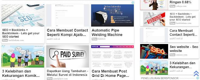 """Cara Lengkap Mengubah Tampilan Iklan Konten Yang  Sesuai """"Matched Content"""" Google Adsense"""