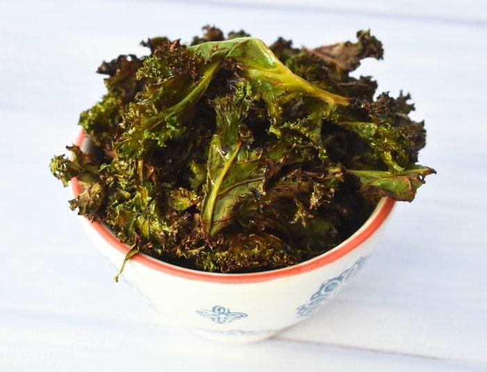 Homemade Salt & Balsamic Vinegar Kale Crisps