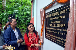 Health Sub centre at Rongchong inaugurated by Asha Gurung