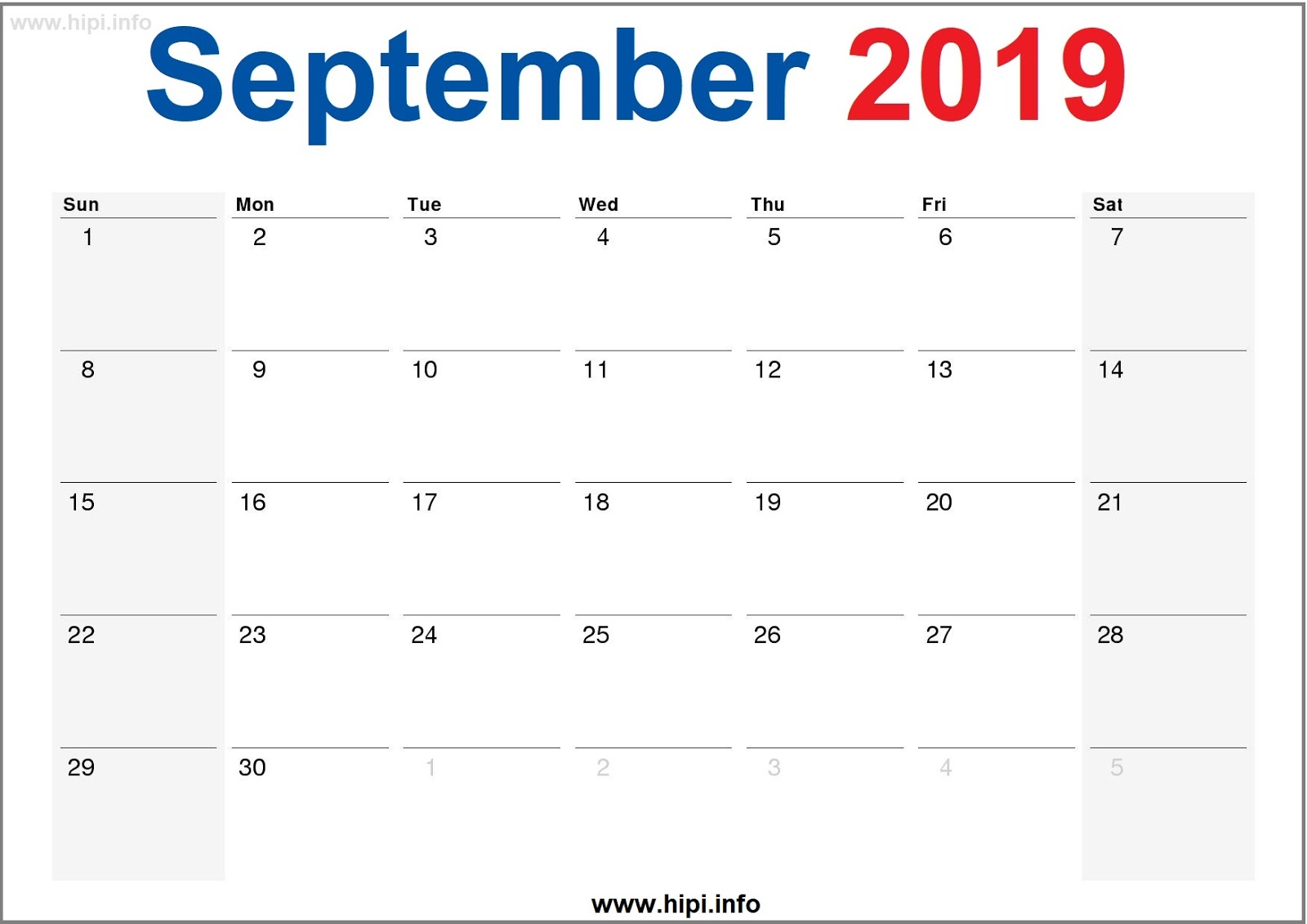 photo about Printable Monthly Calendar September known as Twitter Headers / Fb Addresses / Wallpapers / Calendars