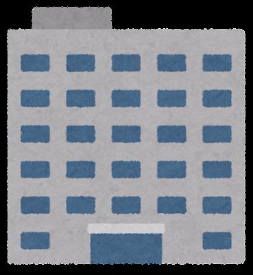 裁判所の建物のイラスト(文字なし)