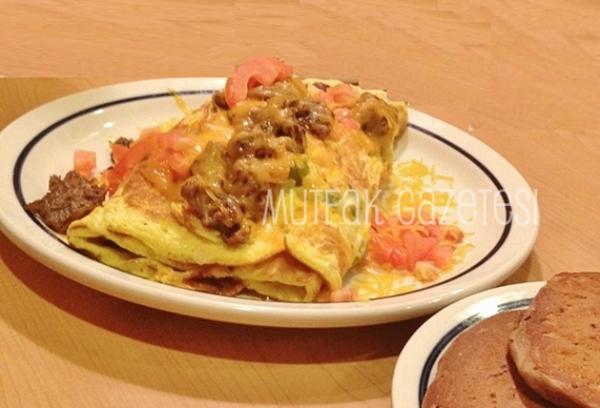 Biftek soteli omlet