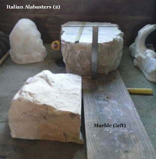 Stone for sale Semi-transparent Italian Alabaster and Marble for Sculpture