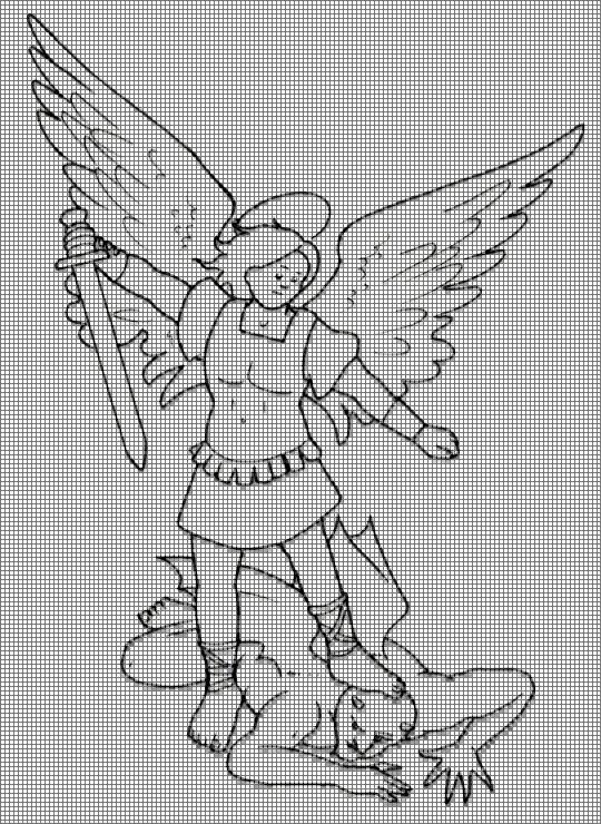 Hobby lavori femminili ricamo uncinetto maglia san for Angeli per bambini da colorare