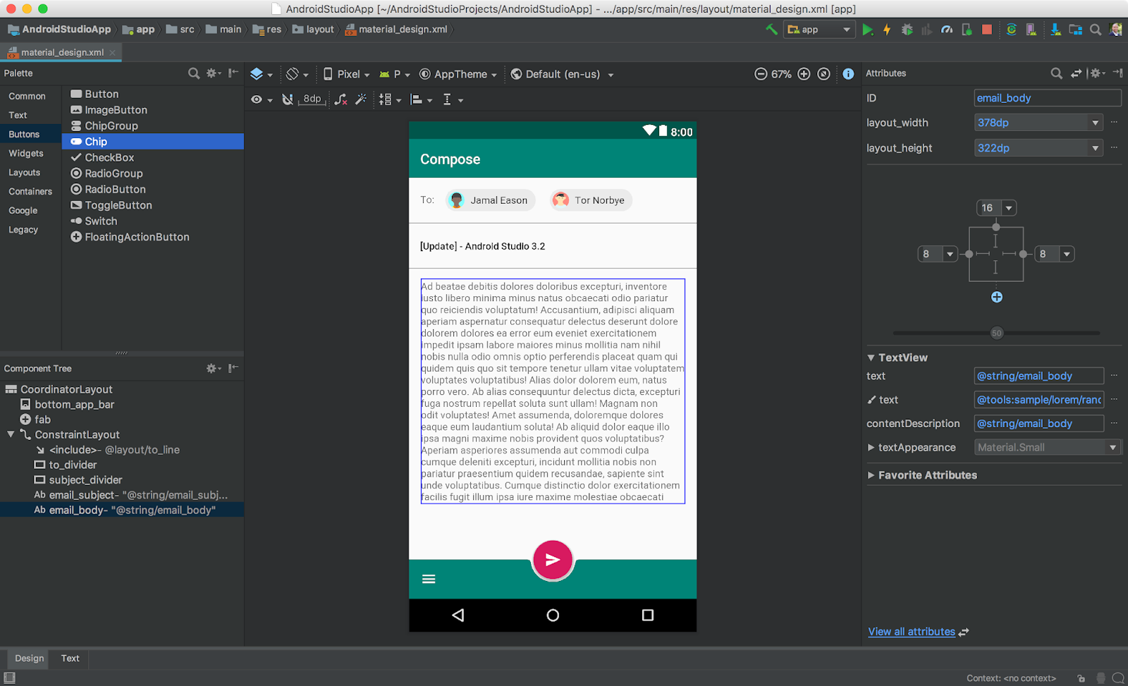 - material design - Android Developers Blog: Android Studio 3.2 Canary