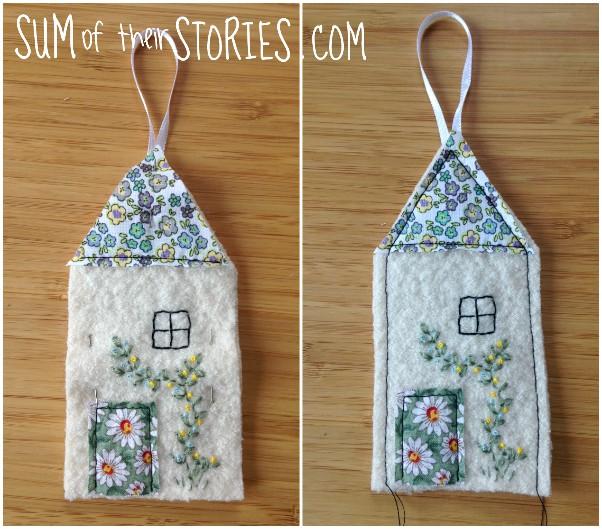 making felt house lavender bags