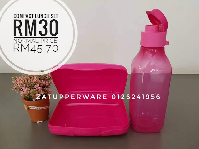 Tupperware Compact Lunch Set (Pink Set)