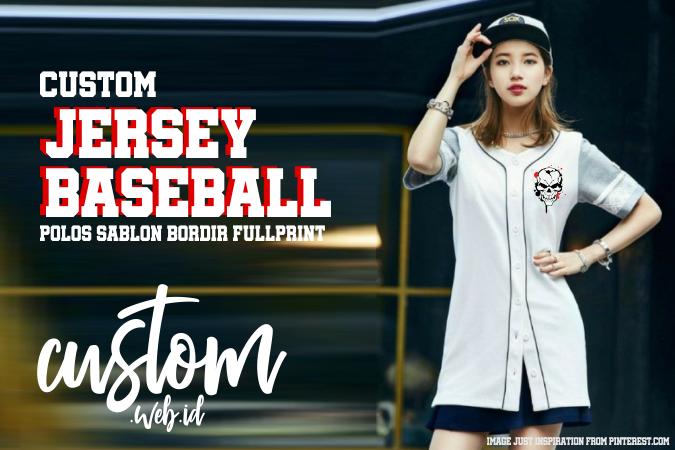 Pembuatan Baju Jersey Baseball Polos Sablon Bordir Full Print