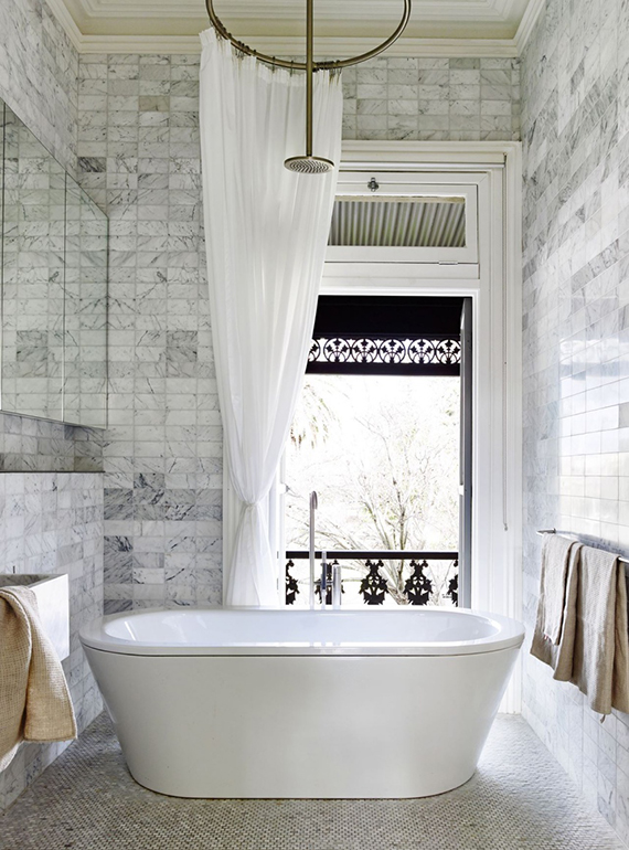 Contemporary chic bathroom design by O'Connor and Houle