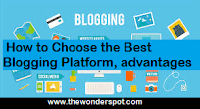 How to Choose the Best Blogging Platform and their advantages & disadvantages.