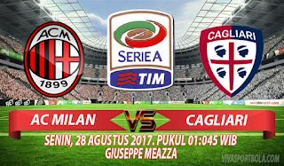 Prediksi AC Milan vs Cagliari 28 Agustus 2017