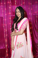 Adaa Sharma in White Pink Saree at Zee Telugu Apsara Awards 2017 31.JPG