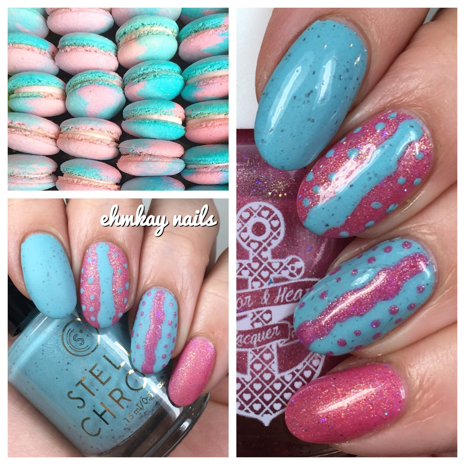 Ehmkay Nails Macaron Nail Art With Anchor Heart And Stella Chroma
