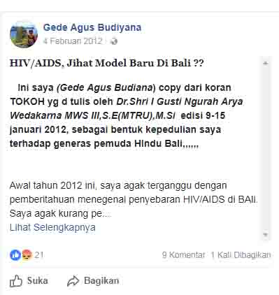 Tokoh Hindu Intoleran Ini Pernah Fitnah Islam Sebagai Penyebar Virus HIV di Bali
