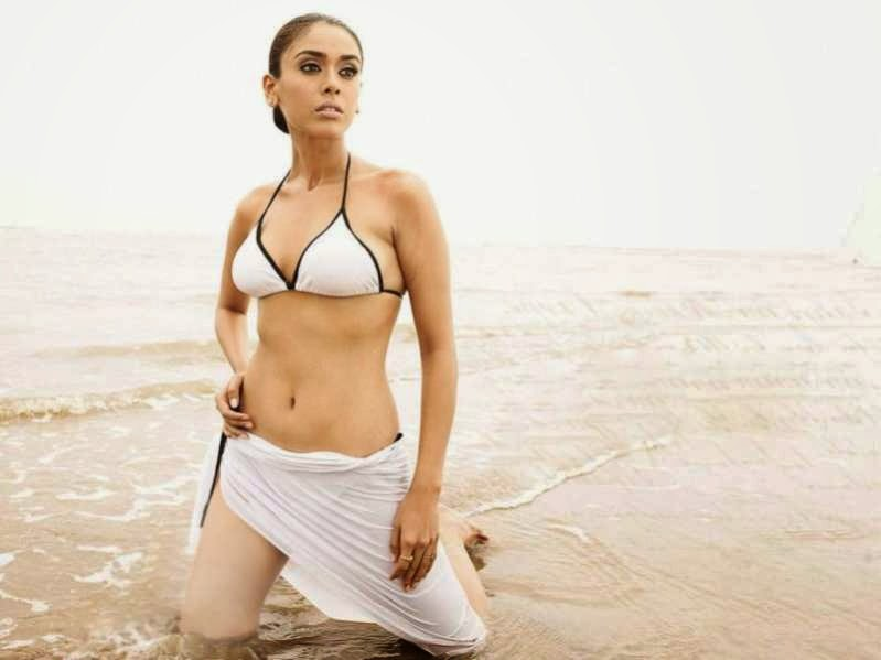 Hrishita bhatt Hot sexy navel bra bikini wallpaper