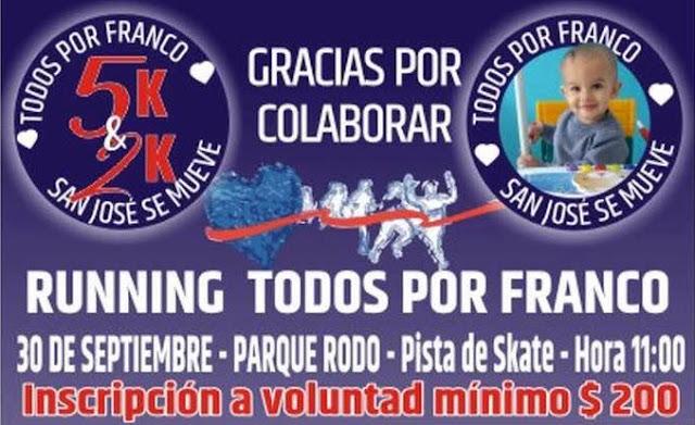 5k y 2k Todos por Franco en San José de Mayo (30/sep/2018)