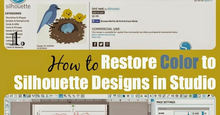 How To Restore Original Color To Silhouette Store Designs