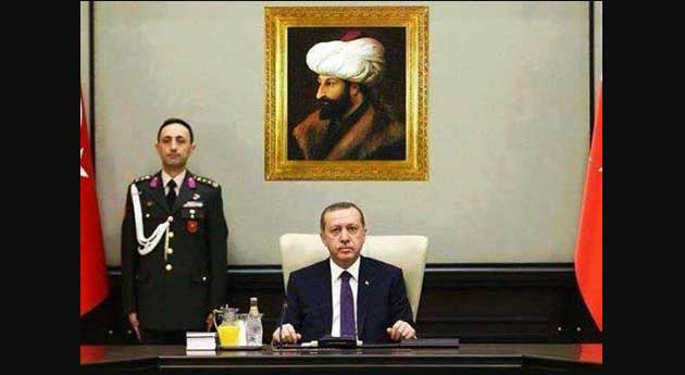 Erdogan Ganti Foto Ataturk Dengan Sultan Muhammad al Fatih di Dalam Ruangan Kerja