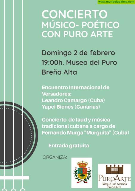 Breña Alta presenta una nueva edición de 'Puro Arte' fusionando música tradicional cubana, versadores y sugerencias del público