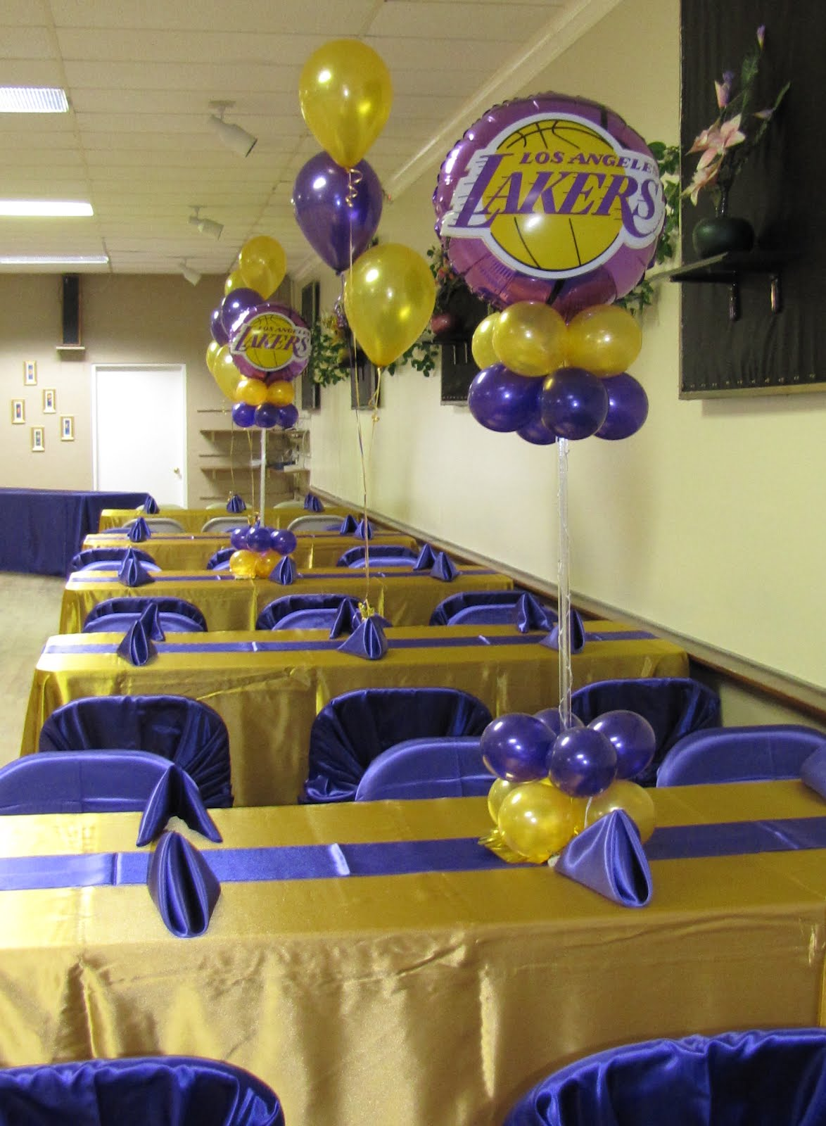 Party People Event Decorating Company Lakers Birthday