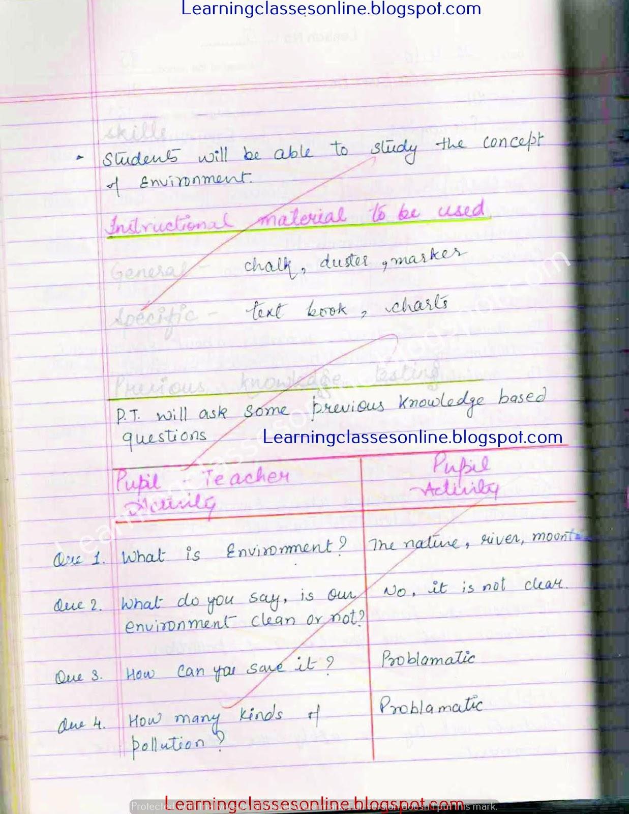 economics lesson plan in english for b Ed
