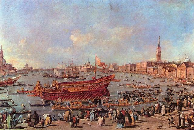 Bucentaure pour la Fête de la Sensa à Venise
