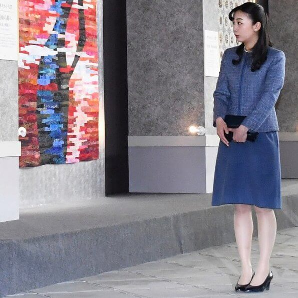 Princess Kako attended the opening ceremony of the 19th Tokyo International Great Quilt Festival at Tokyo Dome
