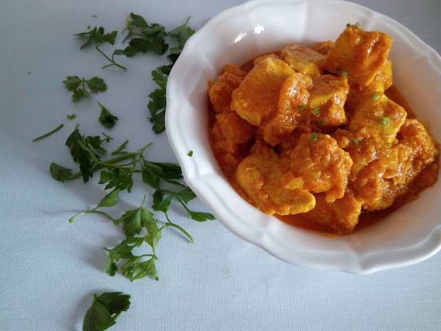 pollo al curry, sin gluten, pollo, yogurt, primeros, aves