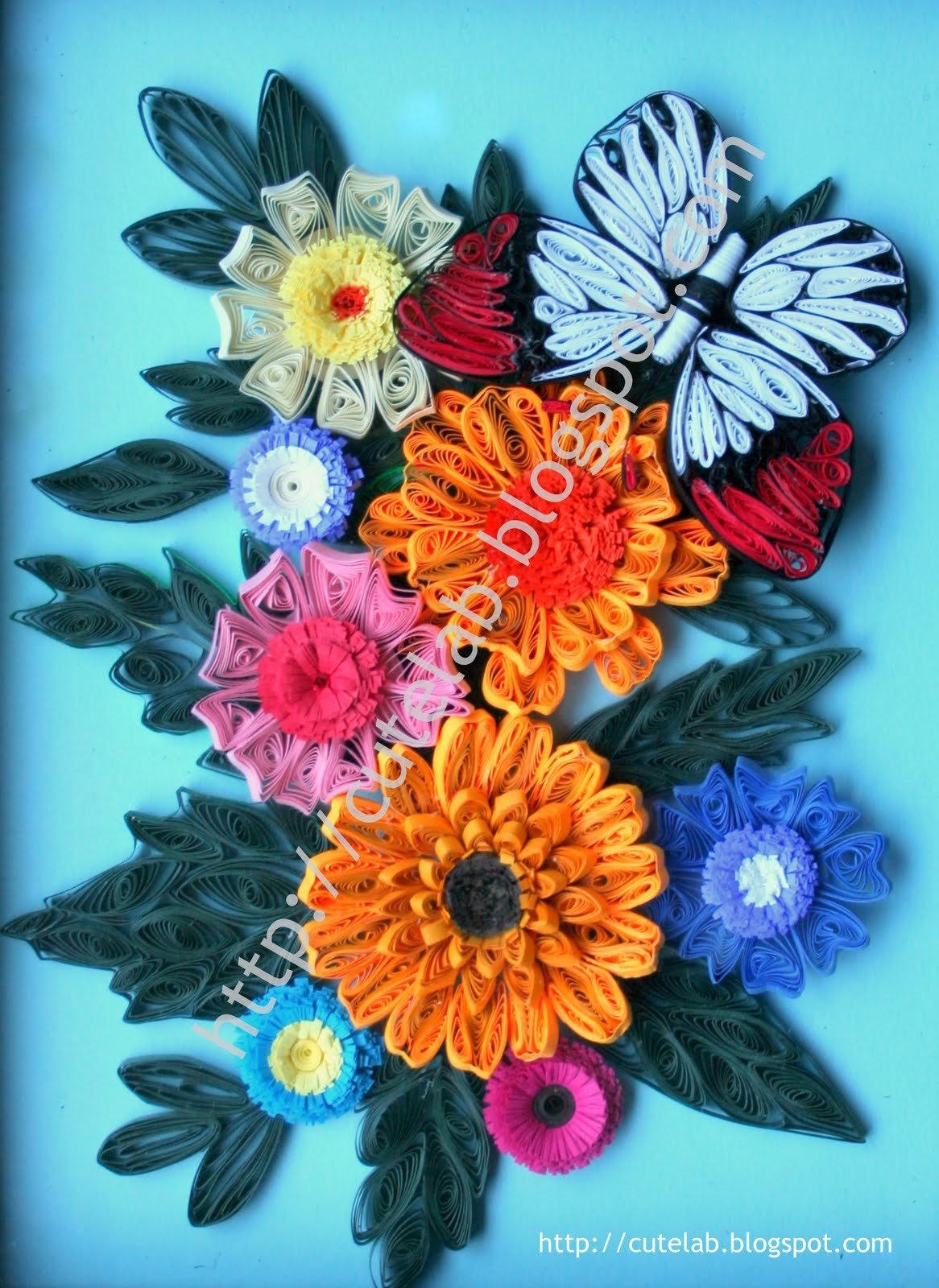 Quilled Flowers Christmas Ornaments Art Projects