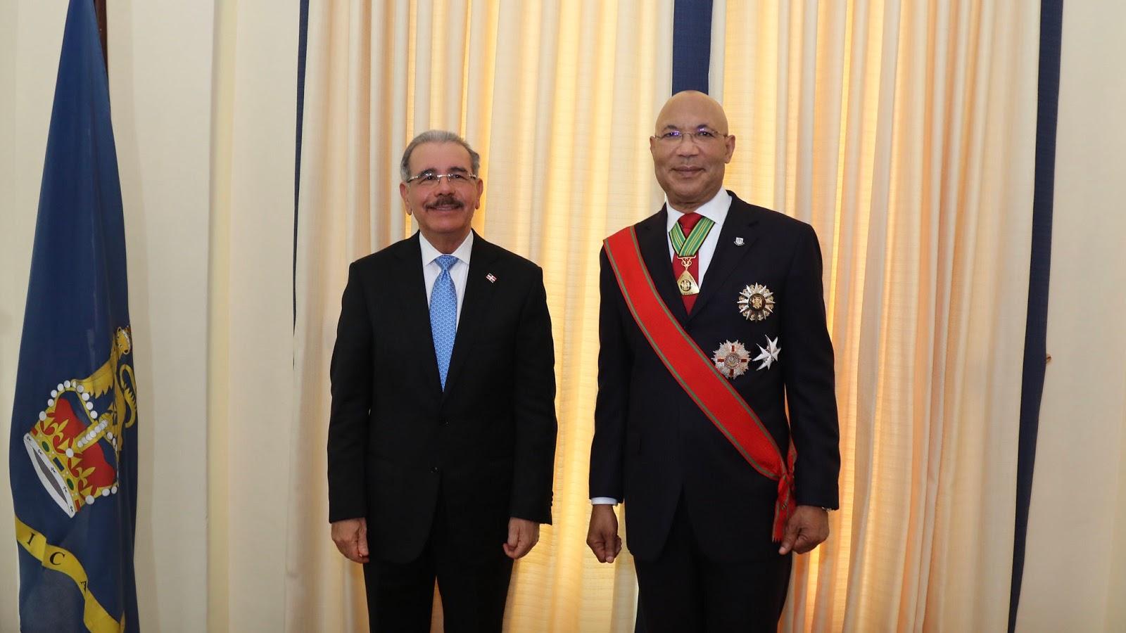 Visita de Estado a Jamaica: Danilo Medina se reúne con gobernador general, Sir Patrick Allen