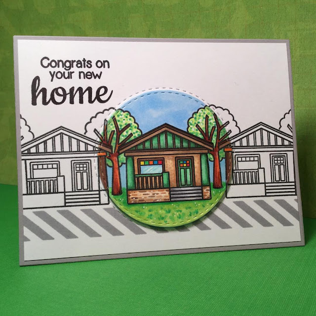 Sunny Studio Stamps: A Happy Home Congrats On Your New House Card by Maggie.