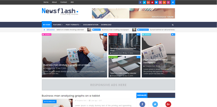 newsflash blogger template download free blogspot theme 2018